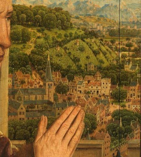 1435 Eyck_madonna_rolin faubourg