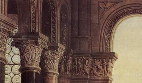 1435 Eyck_madonna_rolin chapiteaux gauche