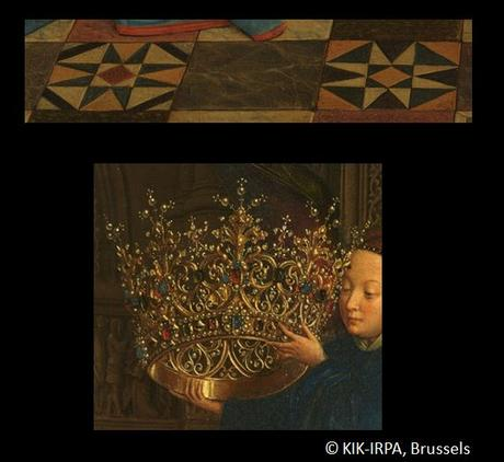 1435 Eyck_madonna_rolin carrelage motifs etoile