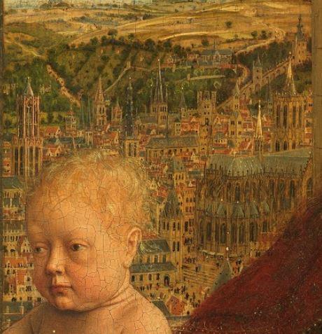 1435 Eyck_madonna_rolin cathedrale