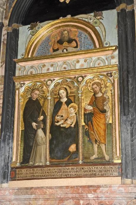 1498 Agostino da Vaprio, Beato Giacomo Filippo Bertoni con donatore e San Giovanni Battista, Pavie