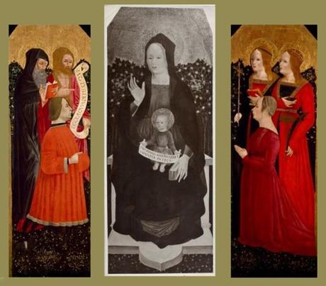 1475-85 Anonimo lombardo trittico Palazzo Madame Turin centre The Museum of Fine Arts, Houston volets