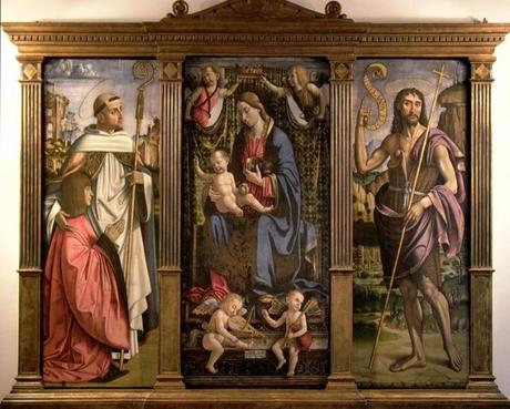 1499 Macrino d'Alba Saint Bernard et abbe Annibale Paleologo, St jean Baptiste PALAZZO VESCOVILE tortonaAbbazia di Lucedio