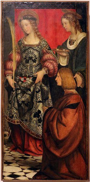 1503 Girolamo_giovenone,_ss._dorotea_e_lucia_con_un_devoto Pinacoteca del Castello Sforzesco