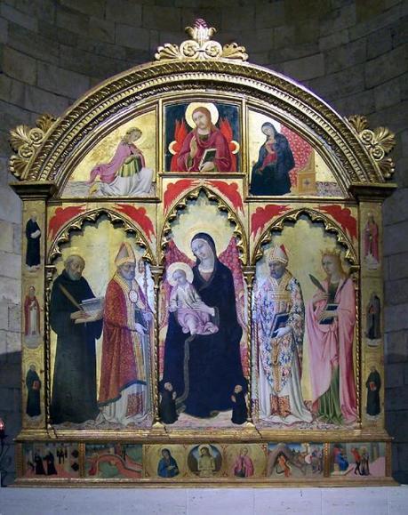 1471 Sano di Pietro, due donatori Museo Civico e d'Arte Sacra, Colle di Val d'Elsa