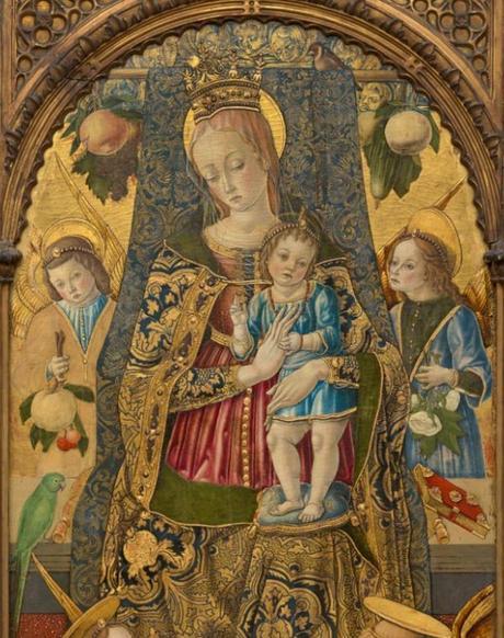 1481 Vittore Crivelli Polittico Wilstach Philadelphia Museum of Art detail,