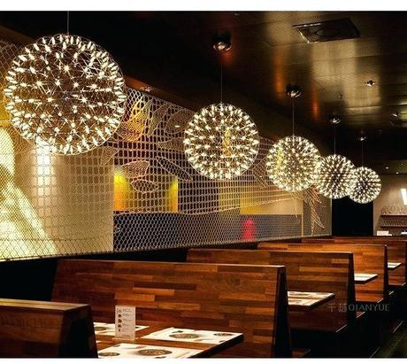 star pendant light modern star pendant lamp stainless steel creative circle ball pendant light led firework lamp hotel shop star pendant light canada