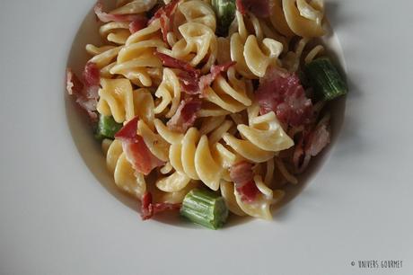 Pâtes Asperges & Pancetta