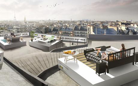 IKEA installe 10 chambres sur les toits de Paris