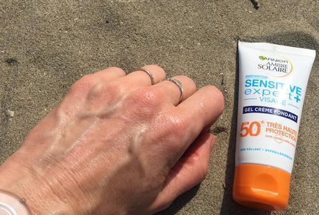 Mon bouclier : le Gel Crème Fondant Sensitive Expert + Ambre Solaire de Garnier