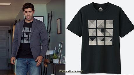 DEMAIN NOUS APPARTIENT : le t-shirt à motifs géométriques de Georges dans l'épisode 476