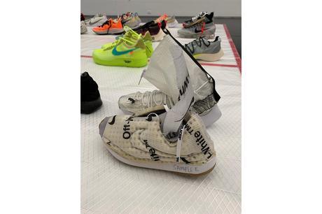 Virgil Abloh dévoile des samples de Jordan et Nike Off White pour son exposition
