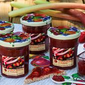 Confiture de fraises et rhubarbe