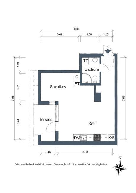 idée déco studio plan maison surface habitable mesure taille pièce petit espace schéma - blog déco - clem around the corner