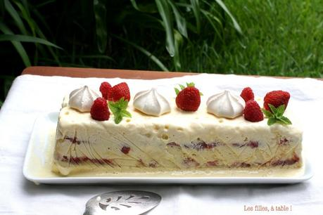 Semifreddo fraises rhubarbe