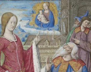 1500-05 Maitre des Triomphes de Petrarque Petites Heures d'Anne de Bretagne Gallica BNF NAL 3027 fol 19v detail