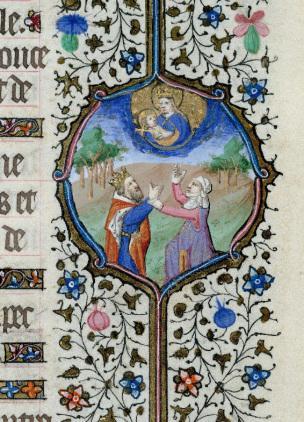 1400-15 Priere Ave stella matutina Paris, Bibl. de l'Institut de France, 0547 f. 057