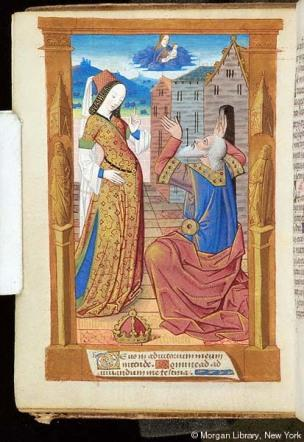 1500 ca Book of Hours France, Rouen, MS H.1 fol. 25v Morgan Library