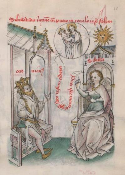 1350-1450 Speculum humanae salvationis BNF Latin 511 folio 9r