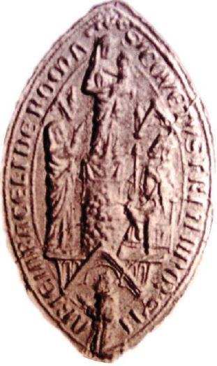 1200-30 Sceau provenant du couvent de l'Ara Coeli Musee deu Palazzo de Venezia Rome