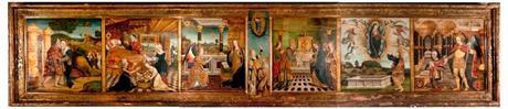 1460-1500 Polyptyque de La vie de la Vierge eglise Notre-Dame de Montlucon ensemble