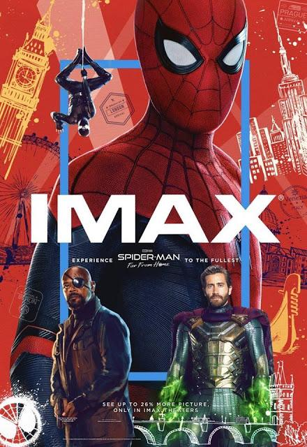 Affiche IMAX pour Spider-Man : Far From Home de Jon Watts