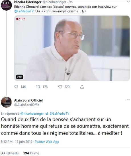 #Chouard, cette bouse qui fait le buzz. Sur Le Média. Avec la bénédiction de #Soral #antisémitisme