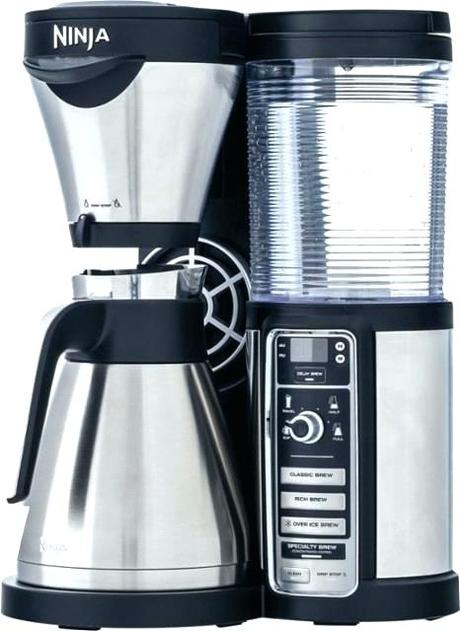 large coffee maker large coffee carafes ninja coffee bar brewer with thermal carafe stainless steel black front zoom large coffee large coffee pot measurements