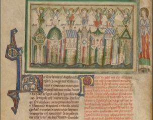 1255-60 Anglais getty museum Ms. Ludwig III 1 (83.MC.72) fol 2v sept eglises d'Orient