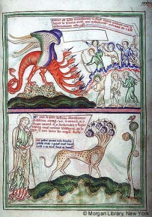 1255-60 Apocalypse Morgan, Londres, MS M.524 fol. 10r