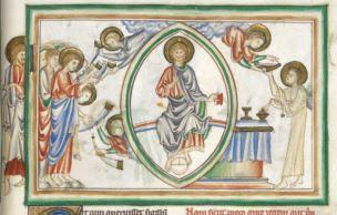 1250-1300 BL Add MS 35166 fol 11r Le septième sceau