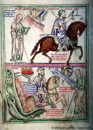 1255-60 Apocalypse Morgan, Londres, MS M.524 fol. 2v