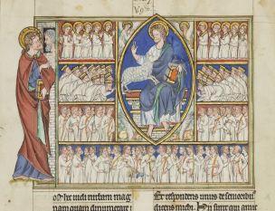 1250–75 Douce_Apocalypse_-_Bodleian_Ms180_-_fol 22v