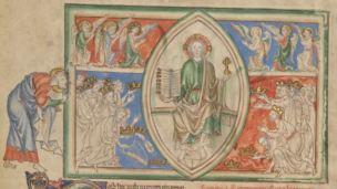 1255-60 Anglais getty museum Ms. Ludwig III 1 (83.MC.72) fol 4v The Vision of God
