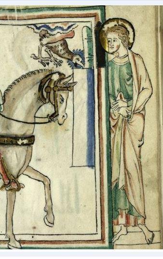 1260 ca BM Cambrai MS 422 fol 22r detail