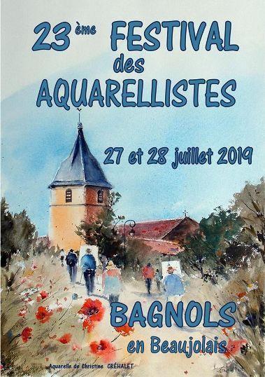 23ème Festival d'aquarelle  de Bagnols-en-Beaujolais