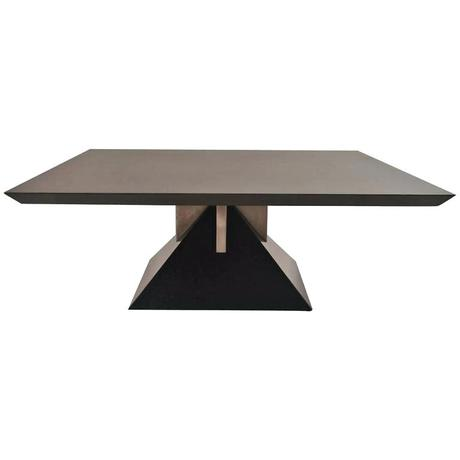 stanley coffee table rare custom design granite pyramid table by j for for sale