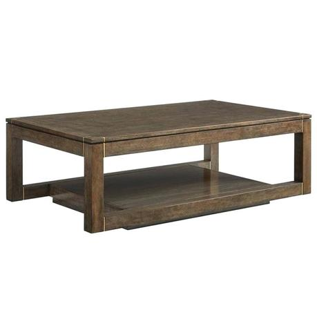 stanley coffee table furniture floating parsons rectangular cocktail table in quicksilver