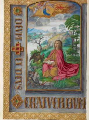 1500 ca Livre d'Heures de Jeanne I de Castille. Saint Jean à Patmos BL Add. Ms. 35313 f 10v
