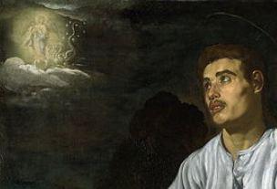 1618 Velasquez Saint Jean National_Gallery, Londres detail
