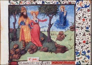 1450-1475 Christine de Pisan, Epitre Othea, La sibylle de Tibur Auguste La Haye, Bibliothèque Meermanno KB74G27