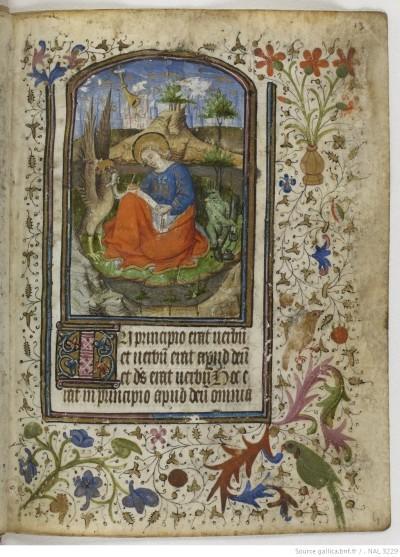 1440-50 Horae secundum usum romanum BNF NAL 3229 fol 13r