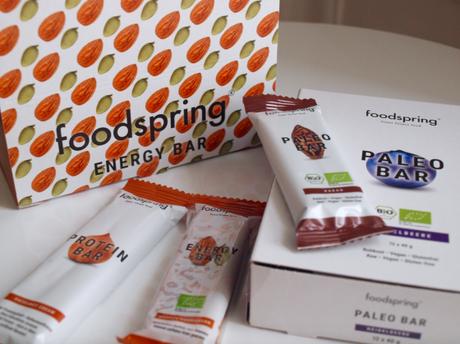 Foodspring, new haul [Barre Paléo, Sparkling Aminos, Energy Aminos, Energy Bar, Recovery Aminos et Porridge]