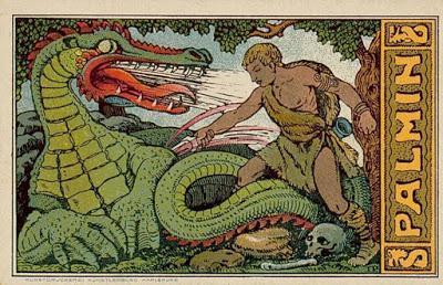 Palmin Sammelbider (2) Siegfried 's Kampf mit dem Drachen / Le combat de Siegfried avec le dragon
