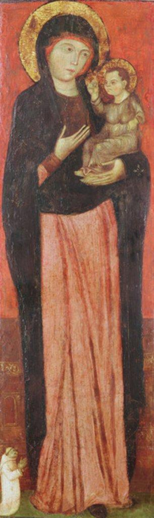 Virgin and Child with a Donor (oil on panel)