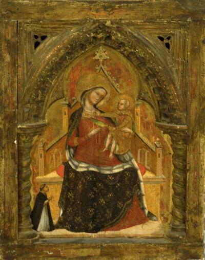 1356-72 Lorenzo Veneziano, Madonna con Bambino in trono e donatore The Fine Arts Museums of San Francisco