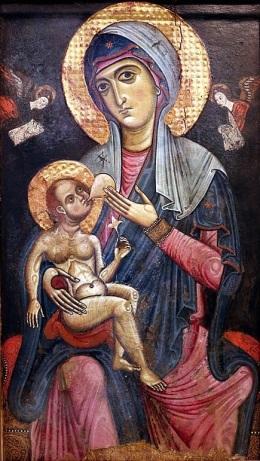 XIIIeme madonna_galaktotrophousa Eglise san_francesco aversa
