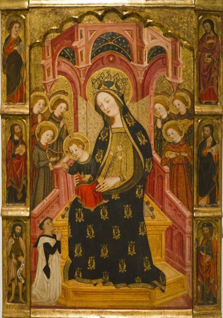 1391-92 Enrique de Estencop donateur párroco de Longares don Francisco de Aguilon, Musee National d'Art Catalan, Barcelone