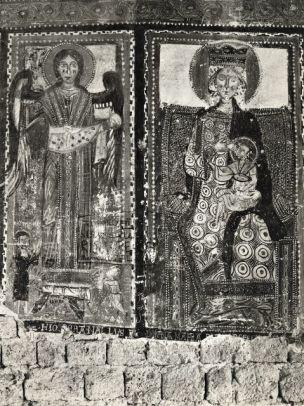 1175 - 1224 San Michele Arcangelo e donatori, Madonna e donatore Museo Nazionale d'Abruzzo, L'Aquila