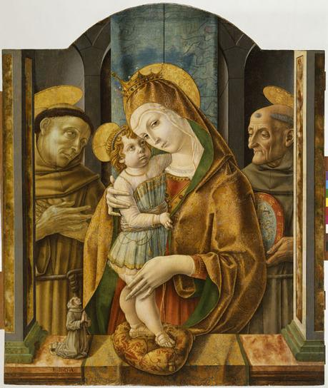 1490 ca Crivelli,Virgin and Child with Saints and Donor, Walters Art Museum, Baltimore